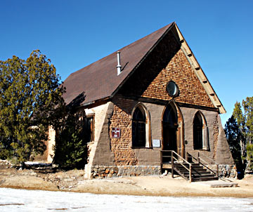 Hearst Church in Pinos Altos near Silver City is classic New Mexico