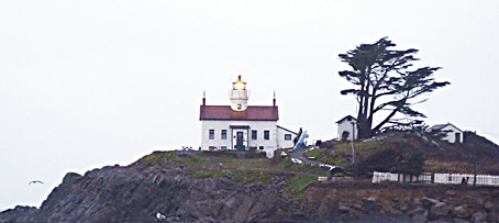 this lighthouse is near Arcata and Eureka and Crescent City, on the northern California Coast near the Oregon Border and Brookings