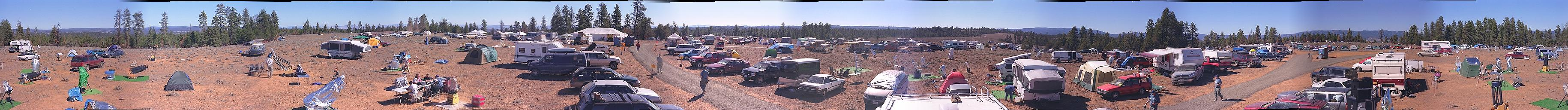 Oregon Star Party 1999 had 600 participants and excellent weather